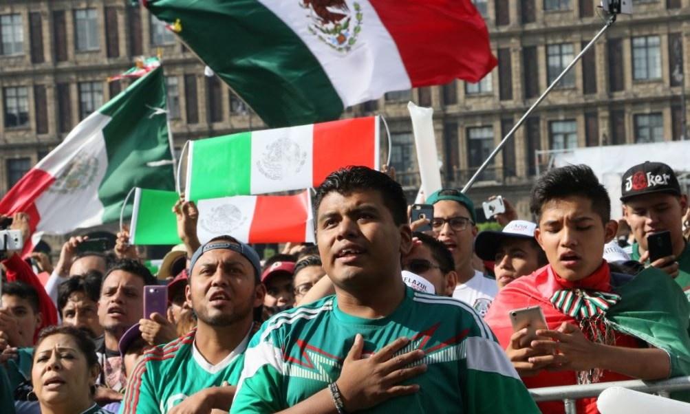 zocalo angel triunfo mexico futbol mundial