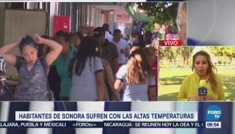 Habitantes Sonora Sufren Altas Temperaturas