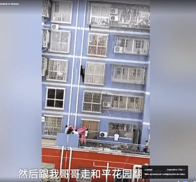 'Spiderman chino' escala cinco pisos para salvar la vida de un niño
