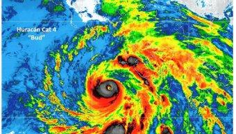 huracan bud se intensifica categoria 4