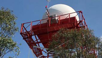 Inauguran radar de lluvias en la CDMX; anticipará dos horas antes