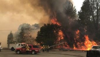 Miles personas huyen norte California por incendio forestal