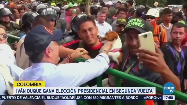 Iván Duque gana elección presidencial en segunda vuelta