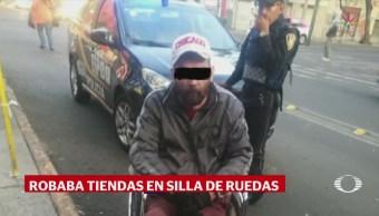 Ladrón en silla de ruedas cuenta con