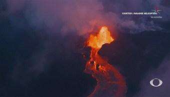 Lava Volcán Kilauea Consume Lago Dulce Hawai