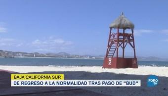"Levantan la alerta roja por ""Bud"" en Baja California Sur"