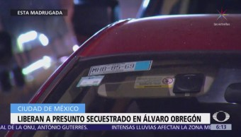 Liberan a presunto secuestrado en delegación Álvaro Obregón