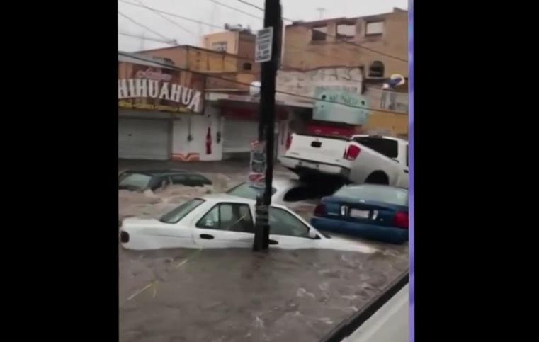 Lluvia provoca severas inundaciones en Aguascalientes
