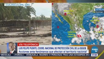 Luis Felipe Puente: la tormenta 'Carlotta' deja 4 heridos