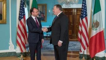 Luis Videgaray se reúne con Michael Pompeo