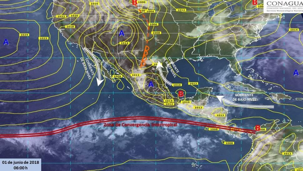 Mapa con el pronóstico del clima para este 1 de junio. (SMN)