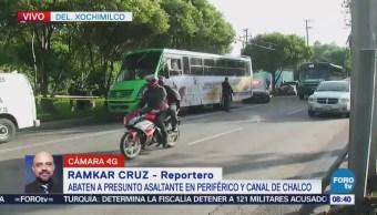 Matan a presunto asaltante en Periférico y Canal de Chalco