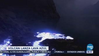 Extra Volcán Indonesia Lanza Lava Color Azul