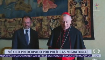 México expresa preocupación por prácticas migratorias en EU