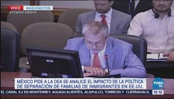 México presenta resolución ante OEA separación
