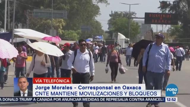 Miembros de la CNTE mantienen bloqueos