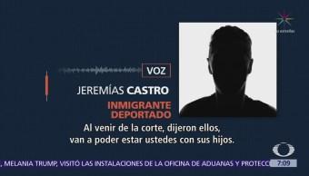 Migrantes separados de sus hijos no
