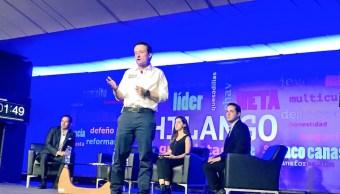 Mikel Arriola presenta estrategia de seguridad en Tec Santa Fe