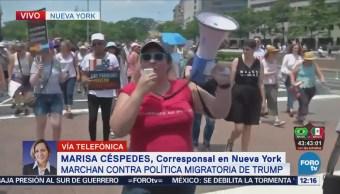Miles Personas Congregan Oficinas Migración Ny