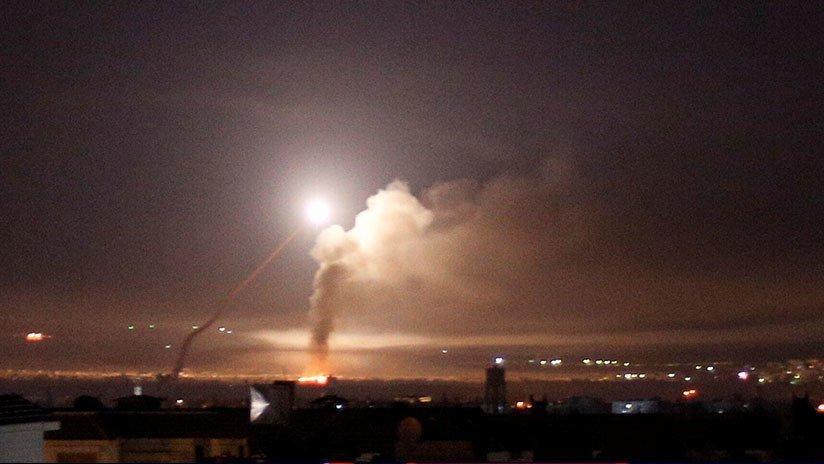 Misiles israelíes destruyen depósito armas Damasco