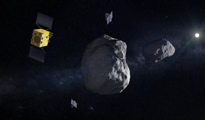 Gráfica de la misión Hera de la Agencia Espacial Europea