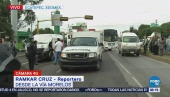 Muere chofer por choque en la Vía Morelos, Ecatepec