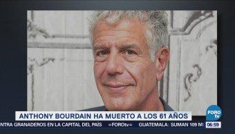 Muere el chef estadunidense Anthony Bourdain