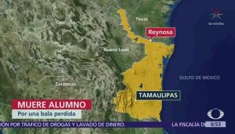 Muere estudiante adentro de escuela por bala perdida en Reynosa