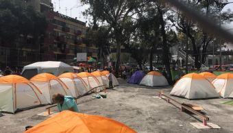 damnificados multifamiliar tlalpan pasan lluvias calle