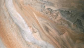 NASA publica nueva foto de corriente en chorro en Júpiter