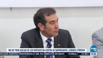 Queja Contra Empresarios Señala INE Lorenzo Córdova