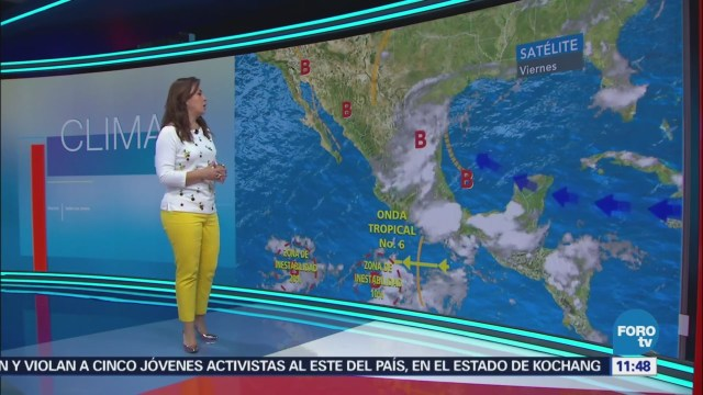 Tiempo Raquel Méndez Onda Tropical Número 6 Genera Lluvias