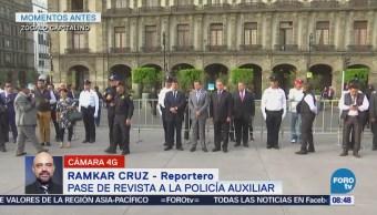 Pasan revista a policías auxiliares de la CDMX