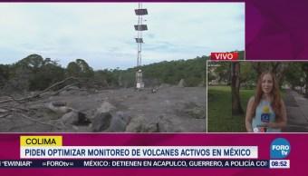 Piden optimizar monitoreo de volcanes activos