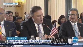 Pompeo pide a OEA suspender a Venezuela