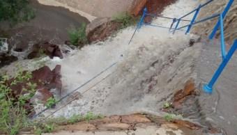 Comienza desfogue controlado de presa San José en SLP