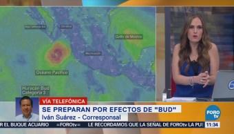 Pronostican lluvias en Nayarit ante el avance del huracán 'Bud'