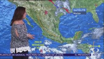 Pronostican tormentas en Michoacán, Guerrero, Oaxaca y Chiapas