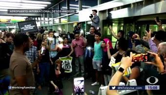 Protestan Aeropuertos EU Contra Separación Familias