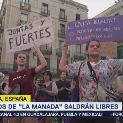 Protestan en España por la liberación de 'La Manada'