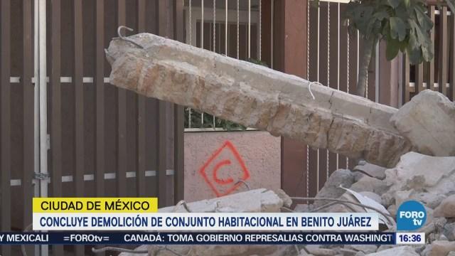 Termina Demolición Conjunto Habitacional Benito Juárez