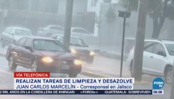 Realizan limpieza y desazolve en Guadalajara tras lluvias intensas