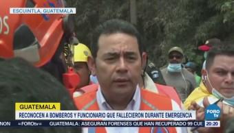 Reconocen Bomberos Murieron Erupción Guatemala Volcán