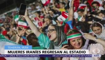Regresan las mujeres a los estadios de futbol en Irán