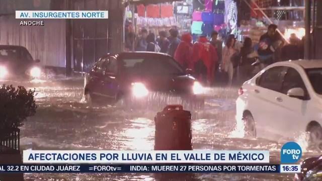 Reportan Afectaciones Lluvia Valle De México Encharcamientos