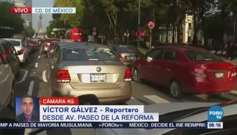 Reportan concentración de personas en Reforma por partido de la Selección Mexicana