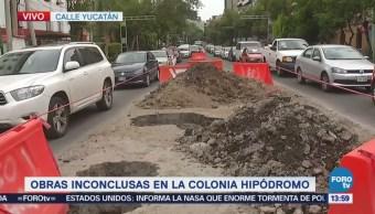 Reportan obras inconclusas en la colonia