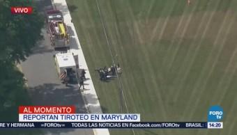 Reportan Tiroteo Ciudad Maryland Estados Unidos