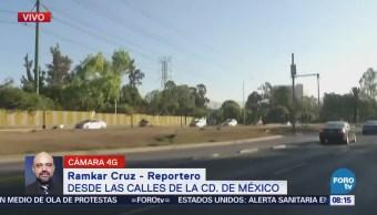 Reportan tránsito lento en avenida Insurgentes Norte, CDMX