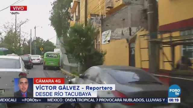 Reportan tránsito pesado en Río Tacubaya, CDMX